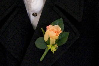 Apricot / Peach Rose Boutonniere
