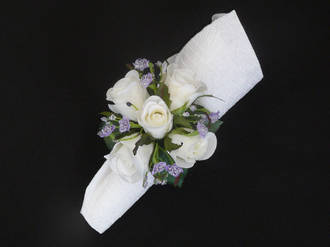 White rose & Lavender Gypsophila
